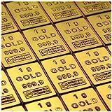 50 Gramm / 50g Gold bestehen aus 50x 1g (1 Gramm) Goldbarren 999,9 Feingold/Minibarren/Mini Goldbaren/Tafelbarren/Gold Barren/Tafel - 24 Karat - teilbar - in CombiBar Blister