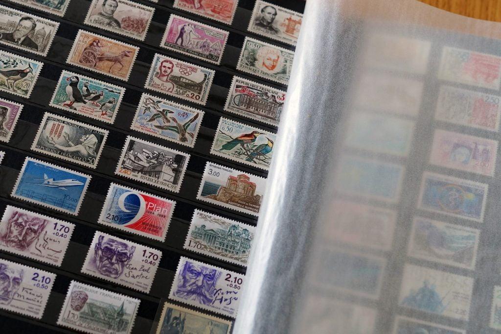 Briefmarkensammlung von der Post