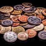 D-Mark-Münzen und Pfennig-Stücke
