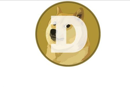 Dogecoin-Münze