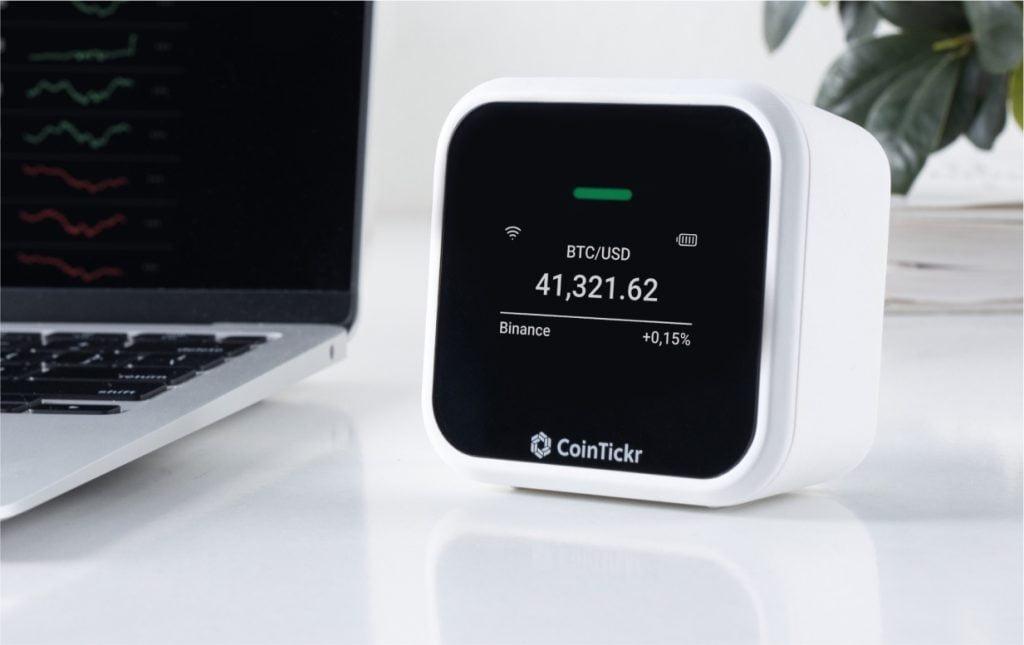 CoinTickr zeigt Bitcoin-Kurs